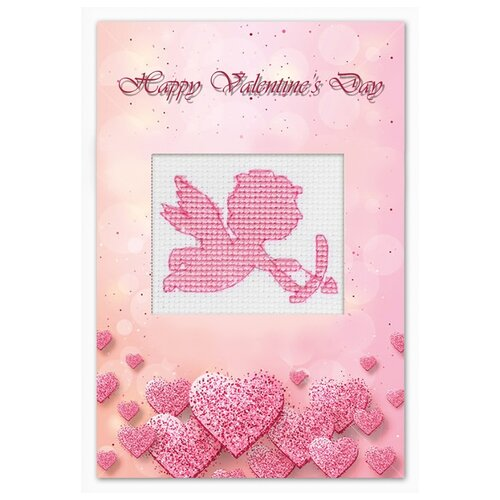 Купить Набор для изготовления открытки Валентинка 10 х 14 см (S)P-76, Luca-S, Наборы для вышивания