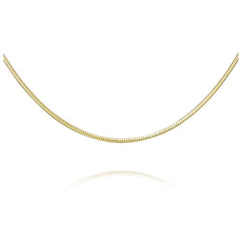 АДАМАС Цепь из желтого золота плетения Панцирь одинарный ЦП135УКА1П-А53, 50 см, 4.8 г