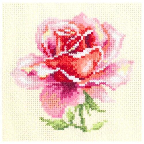 Фото - Чудесная Игла Набор для вышивания Розовая роза, 11 х 11 см (150-002) чудесная игла набор для вышивания лебединая пара 30 х 21 см 64 01
