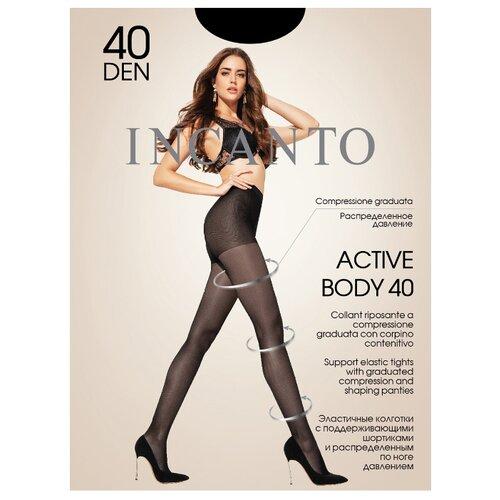 Колготки Incanto Active Body 40 den, размер 4, nero (черный) колготки incanto poudre 40 den размер 4 nero черный