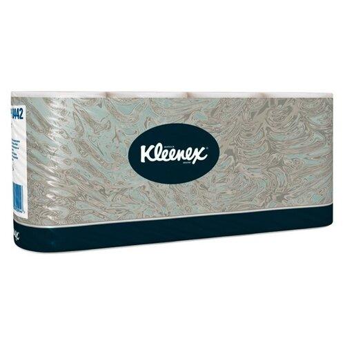 Купить Туалетная бумага Kleenex 8442 двухслойная белая с логотипом в стандартных рулонах, 8 рул.