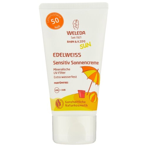 Weleda Солнцезащитный крем для младенцев и детей SPF 50 50 мл weleda натуральный солнцезащитный крем для младенцев и детей spf 50 50 мл weleda