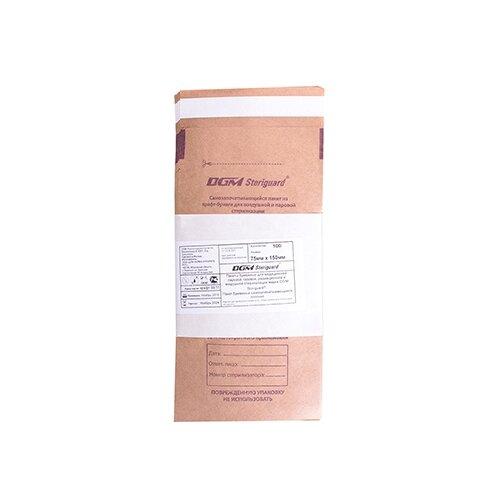 Пакет для стерилизации для стерилизованных инструментов DGM Крафт-пакеты для стерилизации 115x245, 100 шт. бежевый