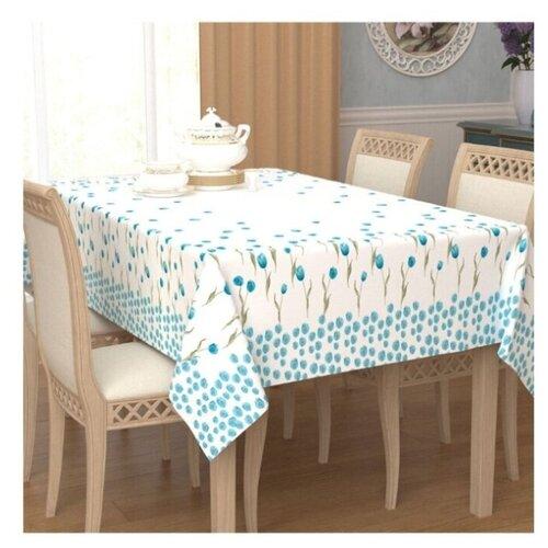 цена на Скатерть Сирень 11485 120х145 см белый/голубой