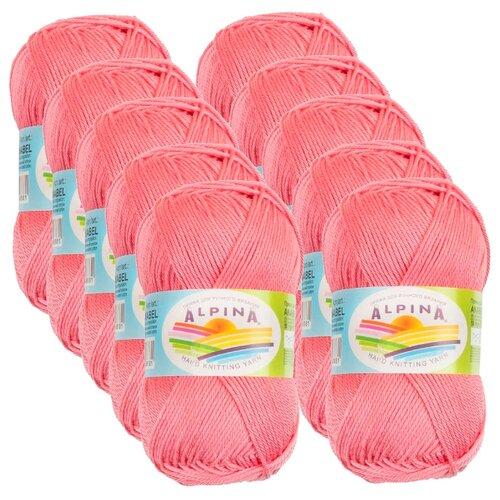 Купить Пряжа Alpina Anabel, 100 % хлопок, 50 г, 120 м, 10 шт., №303 розовый