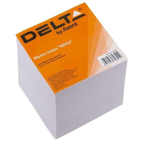 Купить Axent Delta бумага для заметок 9х9х9 см непроклеенная (D8007/D8027) белый, Бумага для заметок