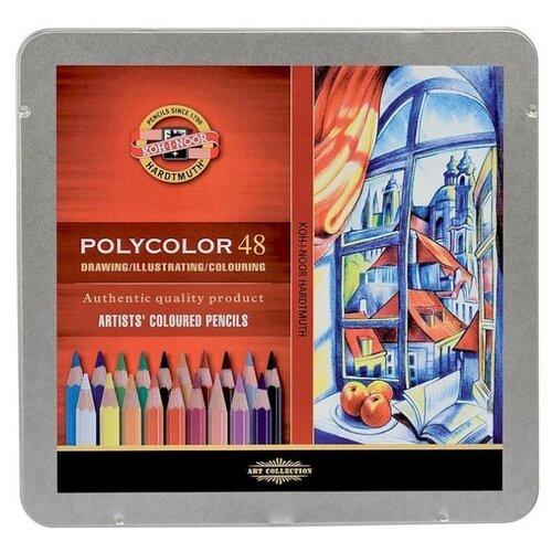KOH-I-NOOR Карандаши цветные художественные Polycolor, 48 цветов (3826048001PL) карандаши цветные koh i noor birds 3553018001ksru шестигран 18цв коробка европод