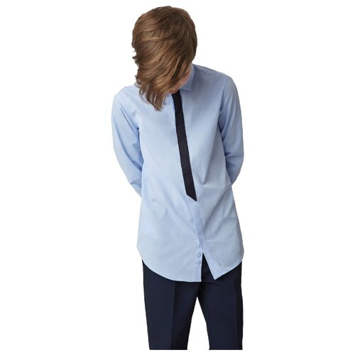 Купить Рубашка Gulliver размер 146, голубой, Рубашки