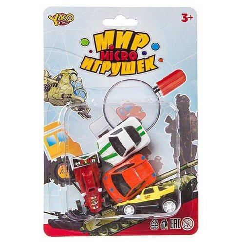 Фото - Набор машин Yako Мир micro Игрушек (B94374) красный/белый/желтый набор машин yako мир моих игрушек m7558 1 белый