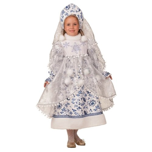 Фото - Костюм Батик Снегурочка Метелица (1948), белый, размер 146 костюм батик леший 6074 коричневый размер 146