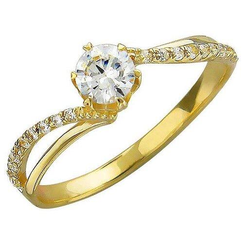 Эстет Кольцо с фианитами из желтого золота 01К135760, размер 18.5