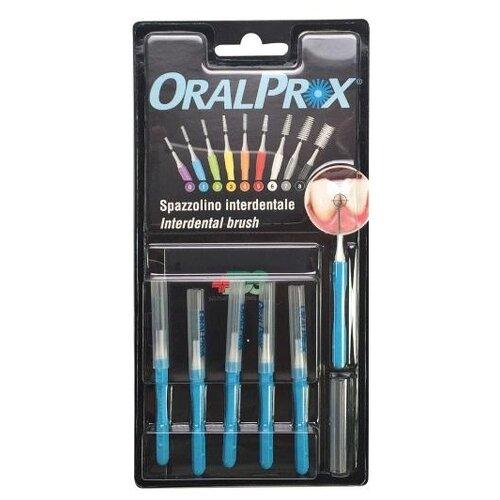 Зубной ершик Dr.Care ORALPROX №1, голубой, 6 шт.