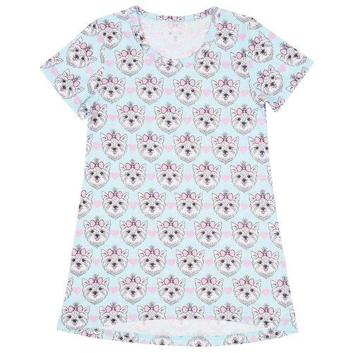 Купить Сорочка ALENA размер 134-140, светло-голубой, Домашняя одежда