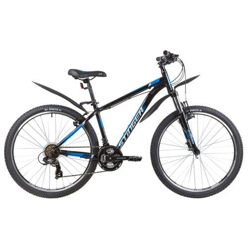 Горный (MTB) велосипед Stinger Element STD 26 (2020) с крыльями черный 18 (требует финальной сборки)