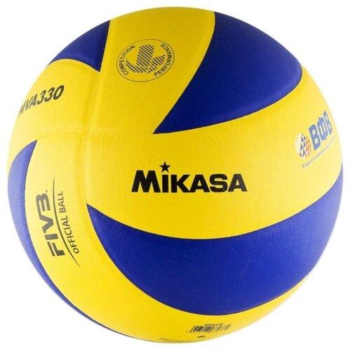 Фото - Волейбольный мяч Mikasa MVA330 желто-синий волейбольный мяч mikasa vt500w желто синий