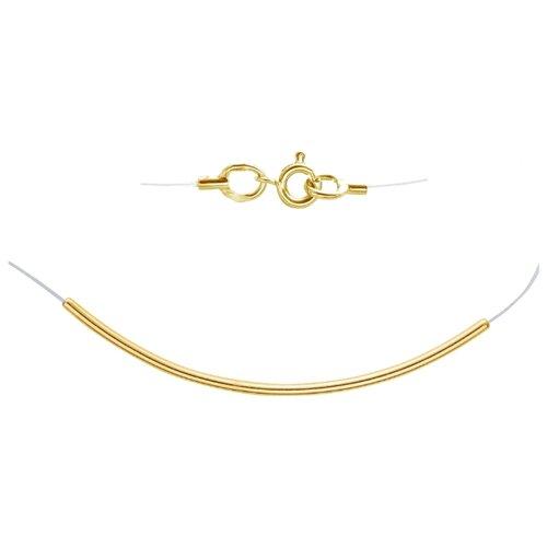 Эстет Леска на шею из желтого золота с подвеской 01Л031673, 45 см, 1.05 г ЭСТЕТ