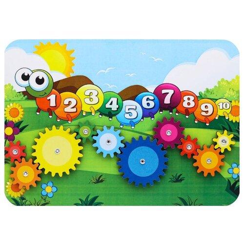 Купить Развивающая игрушка Woodland Веселая гусеница 116102 зеленый/голубой, Развитие мелкой моторики