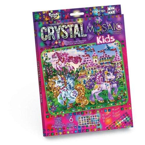 Купить Danko Toys Набор алмазной вышивки Crystal Mosaic Прекрасные пони (CRMk-01-04), Алмазная вышивка