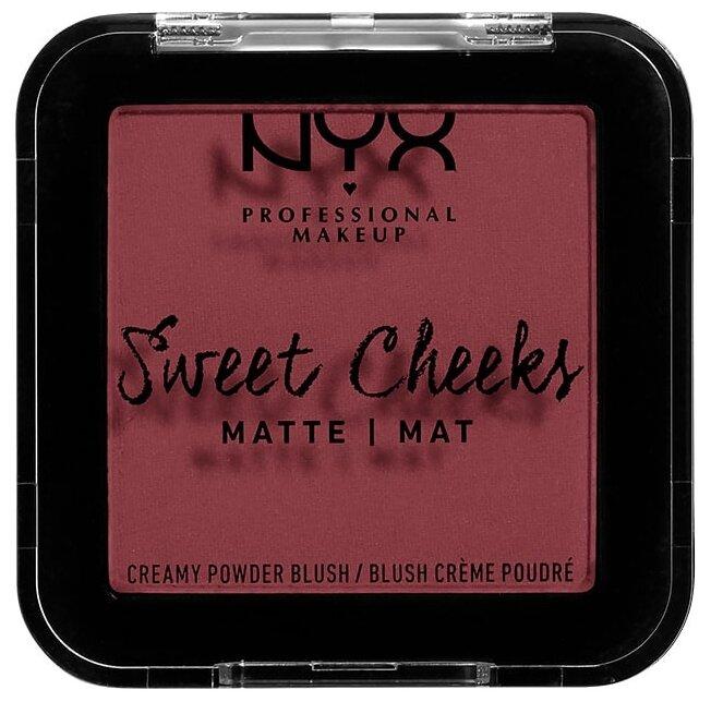 NYX Матовые прессованные румяна Sweet Cheeks Creamy Powder Blush Matte