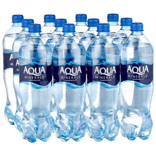 Фото - Вода питьевая Aqua Minerale газированная, ПЭТ, 12 шт. по 1 л вода aqua minerale малина 500 мл