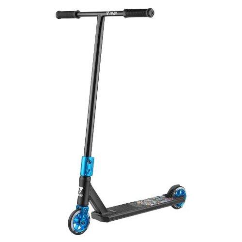 Городской самокат Fox Scooter Raw 03 2020 черный/синий самокат fox scooter pro v tech03 blue