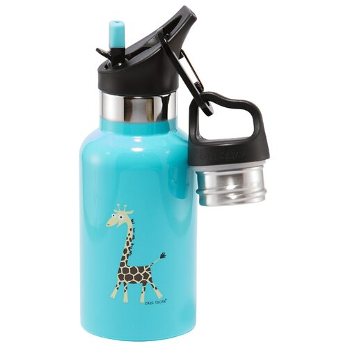 Carl Oscar Детская термос-фляга TEMPflask™ Giraffe 0.35л бирюзовая