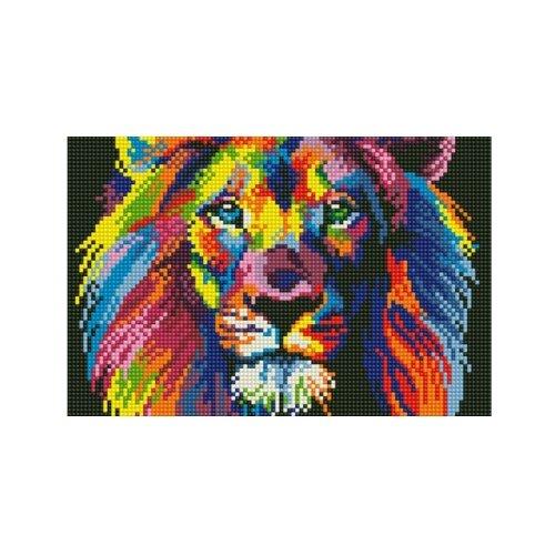 Купить Рыжий кот Набор алмазной вышивки Яркий лев (AS22009) 22х32 см, Алмазная вышивка