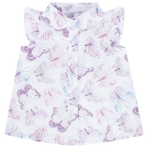 Купить Блузка Leader Kids размер 122, белый, Рубашки и блузы