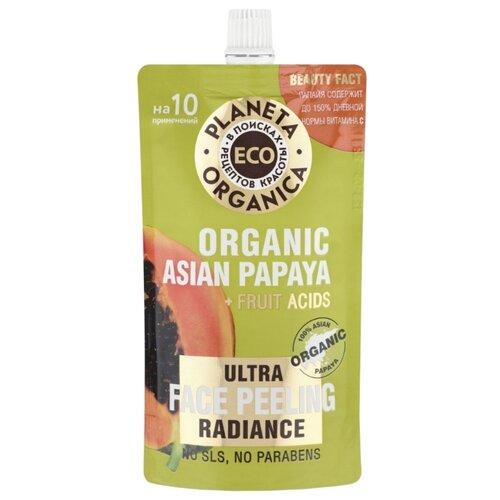 Planeta Organica пилинг для лица Eco Organic Asian Papaya для сияния кожи 100 мл