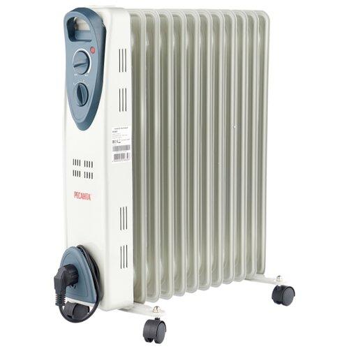 Масляный радиатор инверторный РЕСАНТА ОМ-12Н белый/серый
