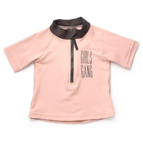 Пляжная футболка Happy Baby размер 92-98, розовый/черный happy baby сумка пляжная happy baby оранжевый
