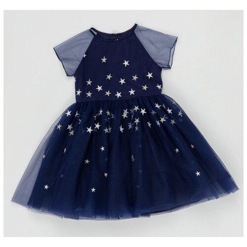 Купить Платье Button Blue размер 128, синий, Платья и сарафаны