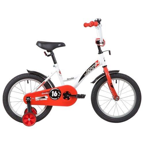 Детский велосипед Novatrack Strike 16 (2020) белый/красный (требует финальной сборки)