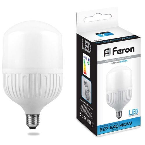 Лампа светодиодная Feron LB-65 25820, E27, T118, 50Вт лампа светодиодная feron lb 65 25821 e27 e40 60w 4000k цилиндр матовая