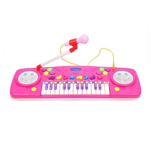 Пианино Наша Игрушка Орган Смайл 25 клавиш, свет, микрофон, демо, запись