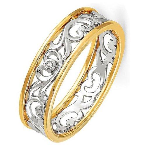 Фото - KABAROVSKY Кольцо с 1 бриллиантом из жёлтого золота 1-2319-1000, размер 19 kabarovsky кольцо с 1 бриллиантом из жёлтого золота 11 2999 1000 размер 18