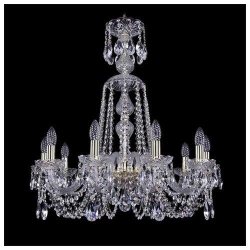 Люстра Bohemia Ivele Crystal 1402 1402/10/240/XL-73/G, 400 Вт bohemia ivele crystal 1402 1402 16 400 g 640 вт