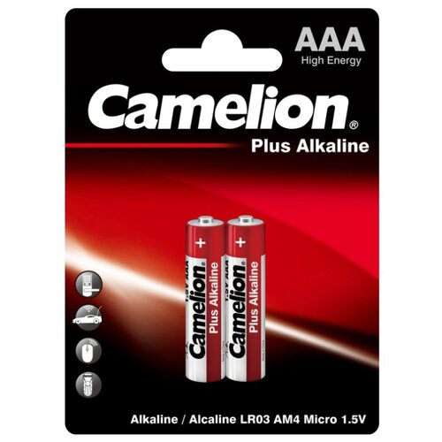 Фото - Батарейка Camelion Plus Alkaline AAA, 2 шт. батарейка camelion lr23a 1 шт