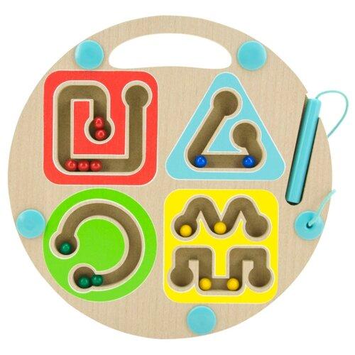 цена на Лабиринт Мир деревянных игрушек Геометрия бежевый/зеленый/желтый/голубой/красный