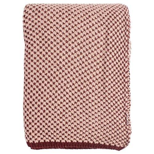 Плед TKANO Essential двухцветный 180 х 130 см, бордовый/пыльная роза