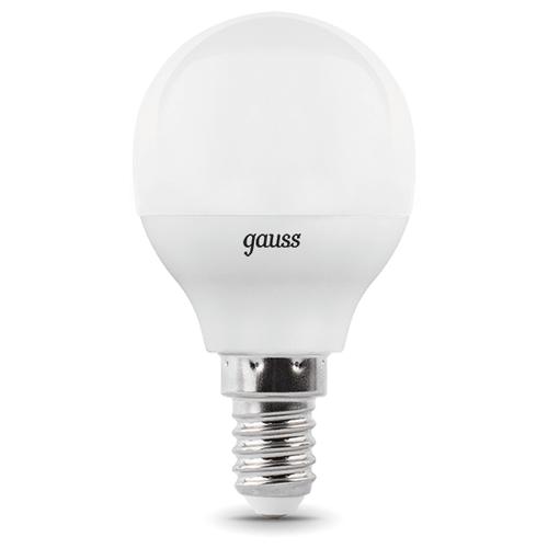 Лампа светодиодная gauss 105101107-D, E14, G45, 7Вт лампа светодиодная gauss 103101207 d e14 c38 7вт
