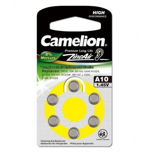 Фото - Батарейка Camelion A10/6BL ZincAir 6 штук батарейки perfeo za312 6bl airozinc premium 6 штук