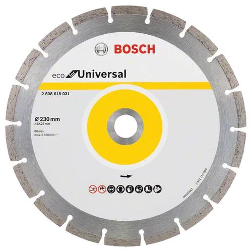 Диск алмазный отрезной 230x2.6x22.23 BOSCH Eco for Universal 2608615031 1 шт. алмазный диск bosch 300х25 4мм eco for universal 2 608 615 033