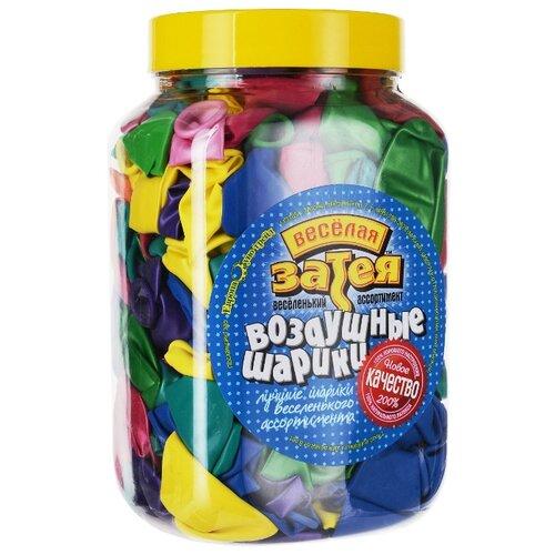 Набор воздушных шаров Веселая затея 1110-0003 B75 (200 шт.) ассорти 15 цветов