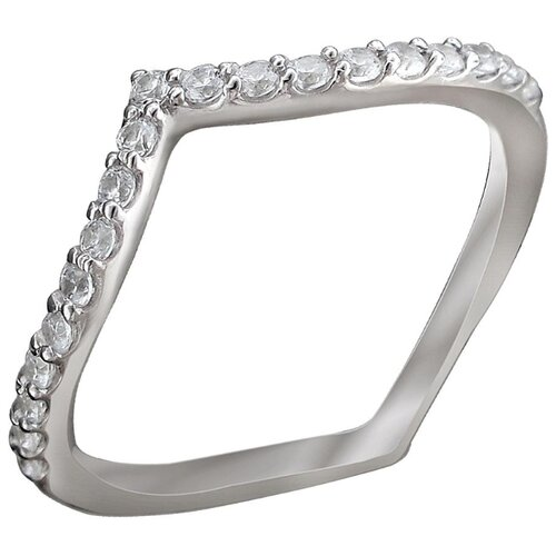 Эстет Кольцо с 19 фианитами из серебра 01К1512150, размер 16 фото