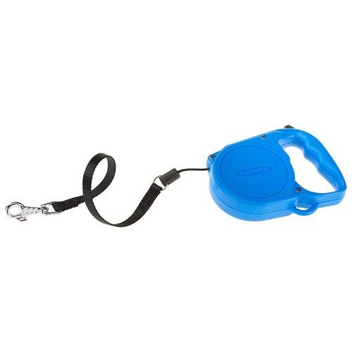 Поводок-рулетка для собак Ferplast Flippy Regular Small синий 5 м поводок рулетка для собак ferplast amigo tape s серый 5 м