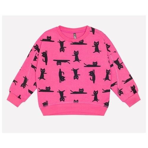 Свитшот crockid размер 74, ярко-розовый мультгерой, Джемперы и толстовки  - купить со скидкой