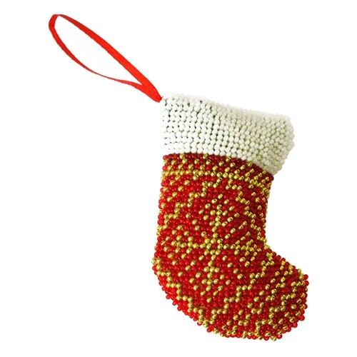 Созвездие Набор для вышивания бисером новогодняя игрушка Сапожок 9 х 6 см (БИ-106) держатель для зубной щетки би хэппи андрей 4 х 6 х 3 5 см
