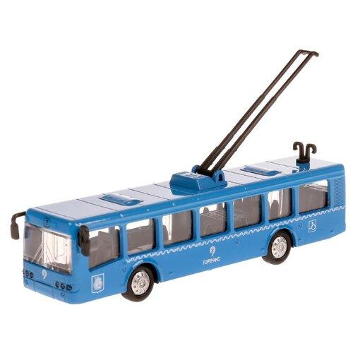 Купить Троллейбус ТЕХНОПАРК SB-16-65-BL-WB 16.5 см синий, Машинки и техника