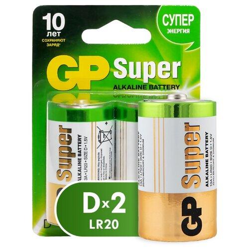 Фото - Батарейка GP Super Alkaline D, 2 шт. батарейка gp super alkaline aa 60 шт